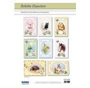 BASTELSETS / CRAFT KITS Card Set Popular Pets For 8 Passepartout Cards