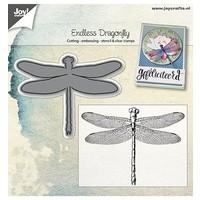 Joy!Crafts, Stanz- und Prägeschablone + Stempel:  Libelle