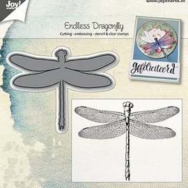 Joy!Crafts / Jeanine´s Art, Hobby Solutions Dies /  Joy!Crafts, Stanz- und Prägeschablone + Stempel:  Libelle