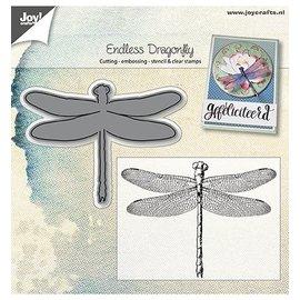 Joy!Crafts / Jeanine´s Art, Hobby Solutions Dies /  Glæde! Håndværk, skæring og prægning skabelon: Dragonfly