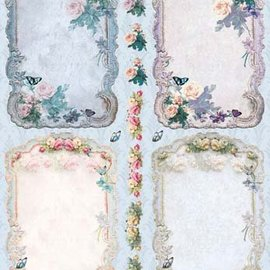 Bilder, 3D Bilder und ausgestanzte Teile usw... Découpé, cadre Vintage Roses