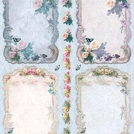 Bilder, 3D Bilder und ausgestanzte Teile usw... Stanseskåret, ramme Vintage Roses