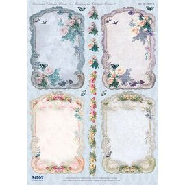 Bilder, 3D Bilder und ausgestanzte Teile usw... Die cut, frame Vintage Roses