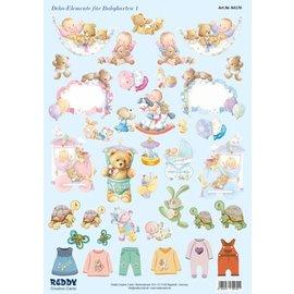 Bilder, 3D Bilder und ausgestanzte Teile usw... Stanzbogen, Babyaccessoires