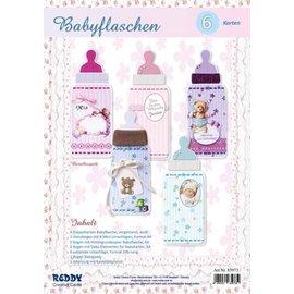 Bilder, 3D Bilder und ausgestanzte Teile usw... Craftset voor 6 babyfleskaarten