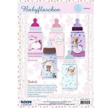 Bilder, 3D Bilder und ausgestanzte Teile usw... Craft kit til 6 baby flaske kort