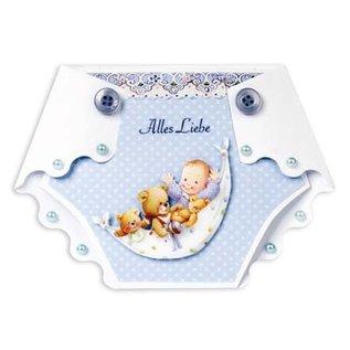 Bilder, 3D Bilder und ausgestanzte Teile usw... Craft set for 6 diaper cards