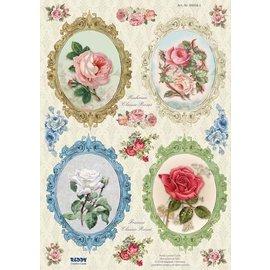 Bilder, 3D Bilder und ausgestanzte Teile usw... Stanzbogen, Rahmen Vintage Roses