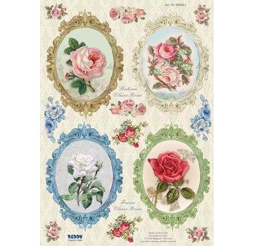 Bilder, 3D Bilder und ausgestanzte Teile usw... Stanseskåret, ramme Vintage Roses - Copy