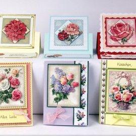 Bilder, 3D Bilder und ausgestanzte Teile usw... Foglio di punzonatura 3D set fiore splendore