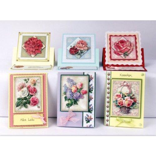 Bilder, 3D Bilder und ausgestanzte Teile usw... 3D ponsplaat set bloemenpracht