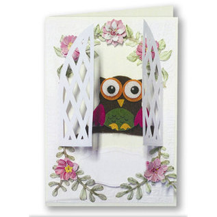 Bilder, 3D Bilder und ausgestanzte Teile usw... Bastelset 3 Filzeulen Karten