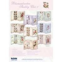 Set Blumenkarten Shabby Chic, zur Gestaltung von 9 Faltkarten!