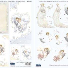 """Bilder, 3D Bilder und ausgestanzte Teile usw... 3D-Stanzbogenset """"Brautpaare"""""""