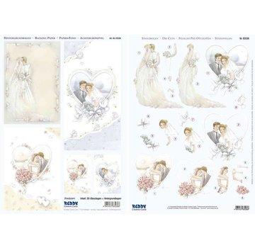 """Bilder, 3D Bilder und ausgestanzte Teile usw... 3D gestanste set """"bruidsparen"""""""