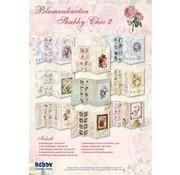Bilder, 3D Bilder und ausgestanzte Teile usw... Set of floral cards Shabby Chic, to design 9 folding cards!
