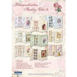Vintage, Nostalgia und Shabby Shic Set of floral cards Shabby Chic, to design 9 folding cards!