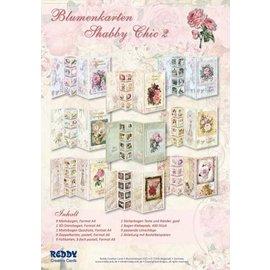 Vintage, Nostalgia und Shabby Shic Sett med blomsterkort Shabby Chic, for å designe 9 brettkort!