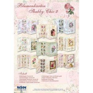 Vintage, Nostalgia und Shabby Shic Set floral kaarten Shabby Chic, om 9 opvouwbare kaarten te ontwerpen!
