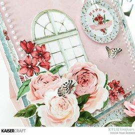 Kaisercraft und K&Company Plantilla de estampado decorativo Kaisercraft, Rose Avenue