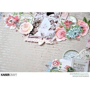Kaisercraft und K&Company Kaisercraft, Papierblock 30,5x30,5cm Rose avenue