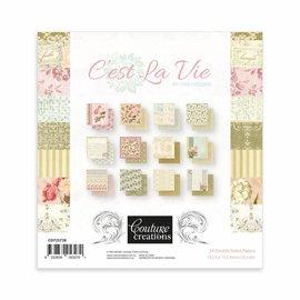 """Couture Creations Paper block, 15.2 x 15.2 cm, """"C'est la vie"""""""