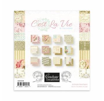 """Couture Creations Papierblok, 15,2 x 15,2 cm, """"C'est la vie"""""""