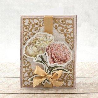 """Bilder, 3D Bilder und ausgestanzte Teile usw... A4 Decoupage Bow, Vintage Roses, """"C'est La Vie"""""""