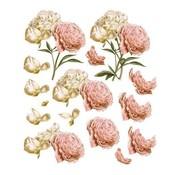 """Bilder, 3D Bilder und ausgestanzte Teile usw... Arco Decoupage A4, Rose vintage, """"C'est La Vie"""""""