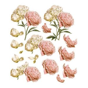 """Bilder, 3D Bilder und ausgestanzte Teile usw... A4 Decoupage Bogen, Vintage Rosen, """"C'est La Vie"""""""