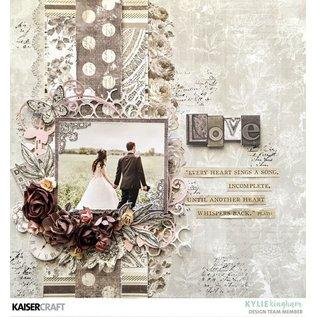 """Kaisercraft und K&Company Kaarten en scrappapier, """"Romantique"""", 30,5 x 30,5 cm"""