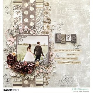 """Kaisercraft und K&Company Karten und Scrapbooking Papier, """"Romantique"""", 30,5 x 30,5 cm"""