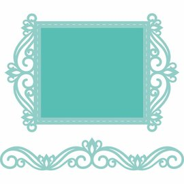 CREATIVE EXPRESSIONS und COUTURE CREATIONS Snij  en embossing sjabloon:  lace frame en rand