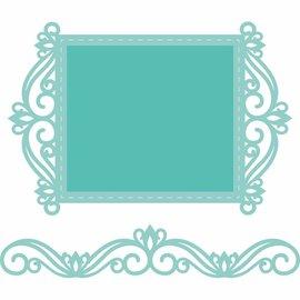 CREATIVE EXPRESSIONS und COUTURE CREATIONS plantilla de corte y estampado: marco de encaje y borde