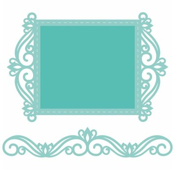 CREATIVE EXPRESSIONS und COUTURE CREATIONS cutting and embossing template: lace frame and border
