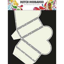 Dutch DooBaDoo Modèle d'art pour la conception de boîtes de coeur