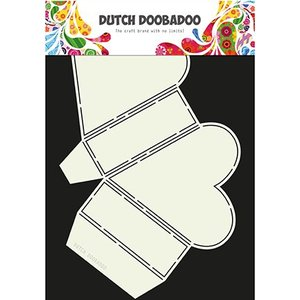 Dutch DooBaDoo Art template for designing heart boxes