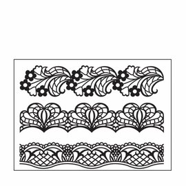 embossing Präge Folder Embossing folder / embossing folder: 3 pointed borders