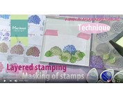 See a demonstration in this video with Layered Stamp by Tiny Harts by Marianne Design!
