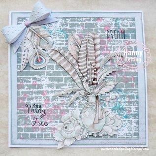 Bilder, 3D Bilder und ausgestanzte Teile usw... A4 picture sheet: fairytale dream - blue