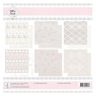 Designer Papier Scrapbooking: 30,5 x 30,5 cm Papier Papirblok, 30,5 x 30,5 cm, 240 gr