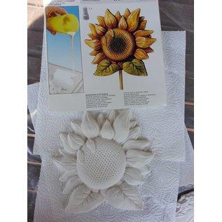 GIESSFORM / MOLDS ACCESOIRES Giessform: Sonneblume, 18cm mit Giessanleitung in der Packung