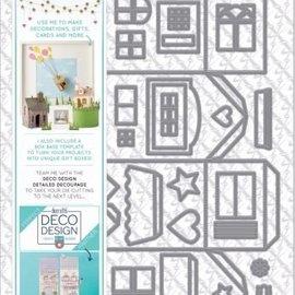 Docrafts / X-Cut Stanz- und Prägeschablone:  Deko Design Häuser