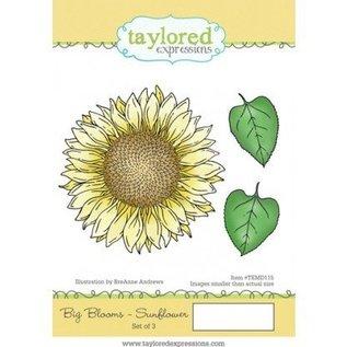 Taylored Expressions Gummi frimærke, solsikke (stor)