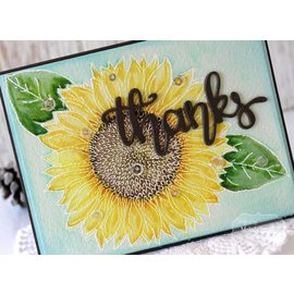 Taylored Expressions Rubber stamp, sunflower (large)