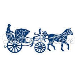 Tattered Lace Stanz- und Prägeschablone:  Vintage Pferd mit Kutsche - zurück vorrätig!