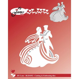 Tattered Lace cutting and embossing template: Dancing Wedding Couple