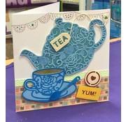 Docrafts / X-Cut Skæring og prægning skabelon: Filigran Tea Time