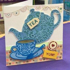Docrafts / X-Cut Stanz- und Prägeschablone: Filigrane Tea Time