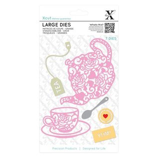 Docrafts / X-Cut modello di taglio e goffratura: Filigrane Tea Time